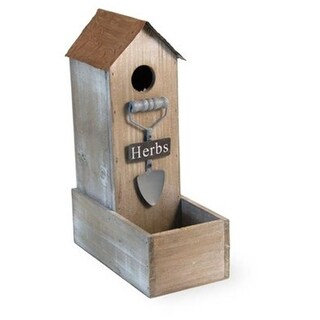 Boston International MTG18174 Herbs Rustic Garden Birdhouse