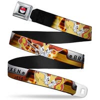 Pok Ball Full Color Black Pokmon #654 Braixen 2 Fire Poses Silver Orange Seatbelt Belt