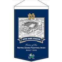 Notre Dame Fighting Irish Banner Wool Stadium Notre Dame Stadium