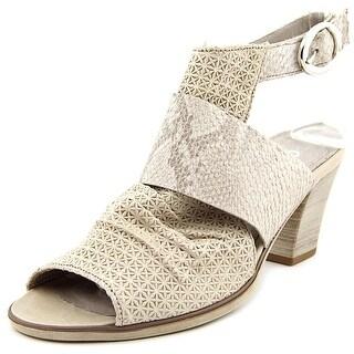 Gabor 41.652 Open-Toe Leather Slingback Heel