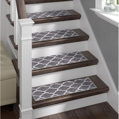 Sofia Rugs, Stair Treads, Geometric, Set of 15 with double sided tape
