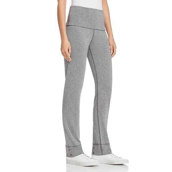 Splendid Women's Heathered High Waist Contrast Trim Activewear Sweatpants - Grey