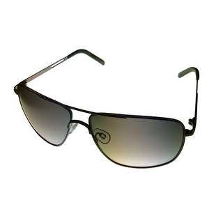 Perry Ellis Sunglass PE24 2 Gunmetal / Olive Metal Aviator Smoke Gradient Lens - Medium