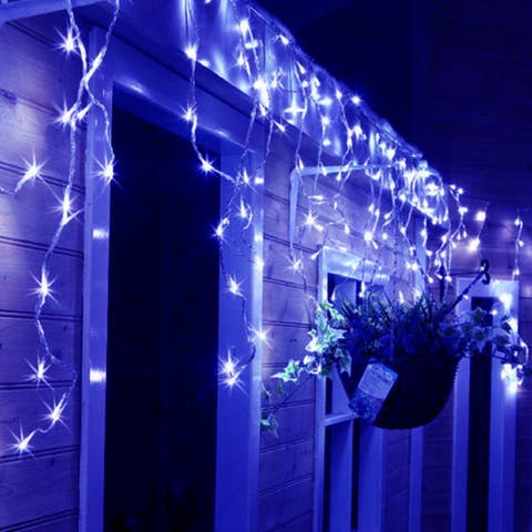 Christmas 16.4ft 216 LEDs Starry Icicle String Lights