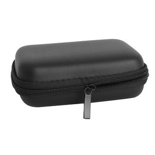 Earphone Mobile Charging Cable Rectangle Carrying Case Pouch Bag Box Black