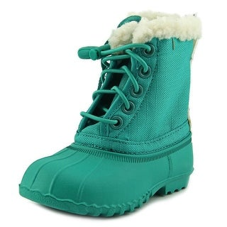 Native Jimmy Winter Infant Round Toe Canvas Green Winter Boot