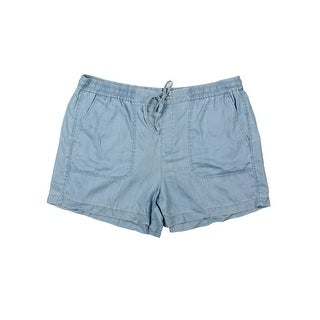 Two by Vince Camuto Womens Casual Shorts Tencel Chambray