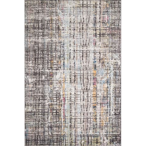 Alexander Home Athens Abstract Modern & Modern Distresssed Area Rug