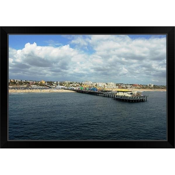 """Santa Monica Waterfront"" Black Framed Print"
