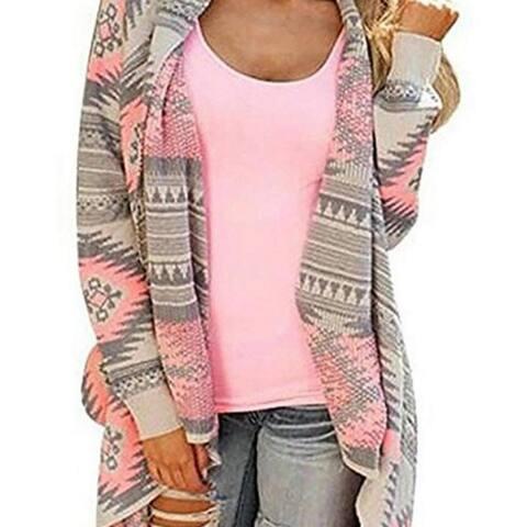 Women's Drape Open Front Drape Boyfriend Cardigan Sweaters