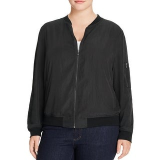 Bagatelle Womens Plus Bomber Jacket Lightweight Zip Front (4 options available)