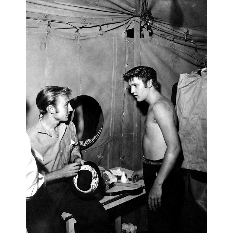 Shop Nick Adams and Elvis Presley backstage Photo Print ...