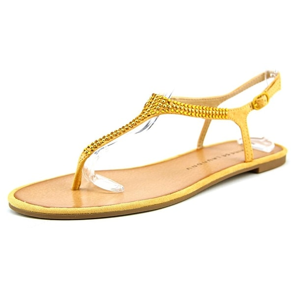 Chinese Laundry Z-Good Will Women Open Toe Synthetic Yellow Thong Sandal
