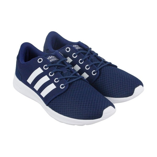 Adidas Cloudfoam Qt Racer Womens Blue Textile Athletic Lace Up Running Shoes