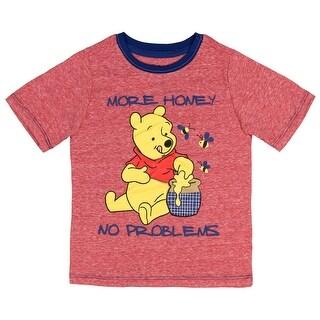 Disney Winnie The Pooh Little Boys' More Honey No Problems T-Shirt