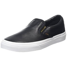 Vans CLASSIC SLIP ON Metallic Gore Black/Gold Men's Shoes 9.5