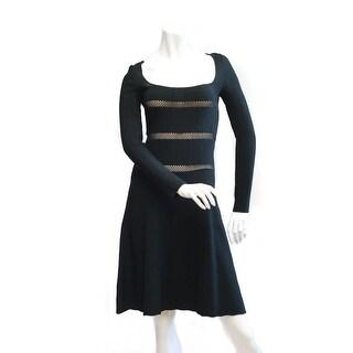 Valentino Little Black Long Sleeve Dress