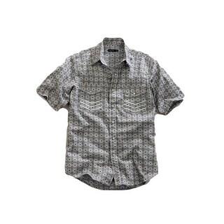 Tin Haul Western Shirt Mens S/S Print Snap Gray
