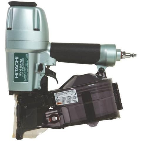 "Hitachi NV65AH2/NV65AH Coil Siding Nailer, 2-1/2"", 120 psi"