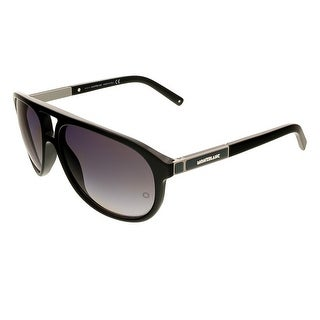 Montblanc MB462/S 01A Black Aviator Sunglasses - 59-16-140