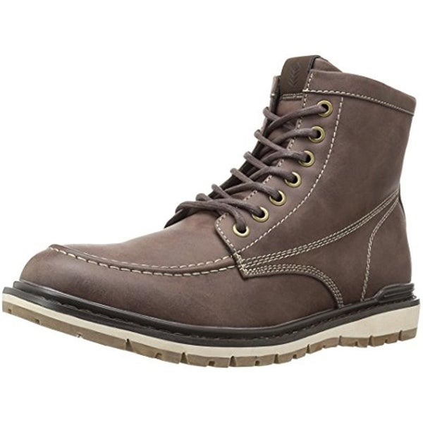 Call It Spring Mens Winter Boots Faux Leather Moc Toe - 8 medium (d)