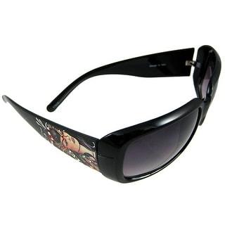 Geisha Sunglasses Black Frames Smoke Lenses