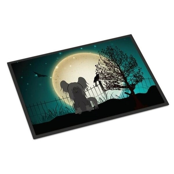 Carolines Treasures BB2302MAT Halloween Scary Chinese Crested Black Indoor or Outdoor Mat 18 x 0.25 x 27 in.