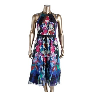 Kay Unger Womens Halter Silk Blend Wear to Work Dress