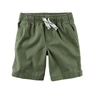 Carter's Baby Boys' Pull-On Canvas Shorts, Olive, 3 Months