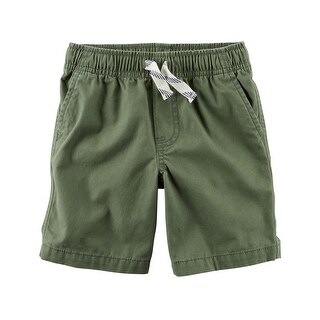 Carter's Baby Boys' Pull-On Canvas Shorts, Olive, 9 Months