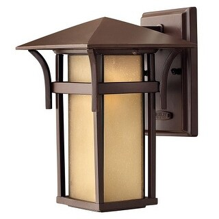 """Hinkley Lighting 2570-GU24 10.5"""" Height 1 Light Lantern Fluorescent Outdoor Wall Sconce from the Harbor Collection"""