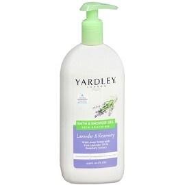 Yardley London Skin Soothing Bath & Shower Gel, Lavender & Rosemary 16 oz