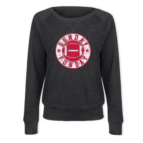 Sunday Funday, Football - Ladies French Terry Pullover