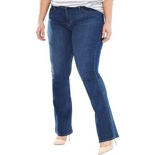 Levi's Womens Plus Bootcut Jeans Shaping Indigo