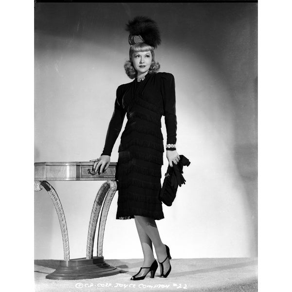 Shop Joyce Compton Wearing A Black Dress With Matching Hat And A