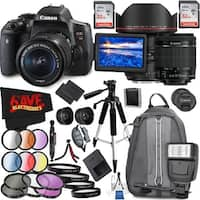 Canon EOS Rebel T6i DSLR Camera with 18-55mm Lens (Intl Model) and Canon EF 11-24mm f/4L USM Lens