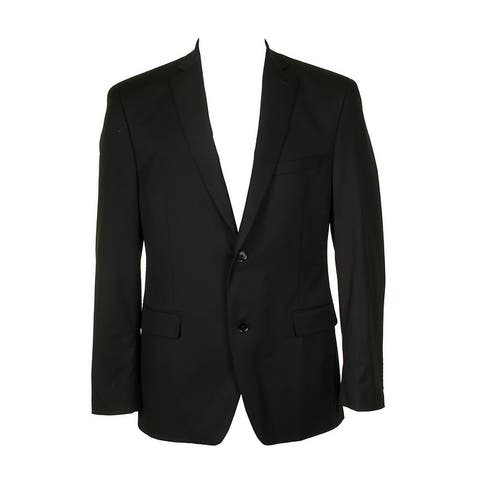 Alfani Mens Classic Black Traveler Slim Fit Single Breasted Blazer 40R