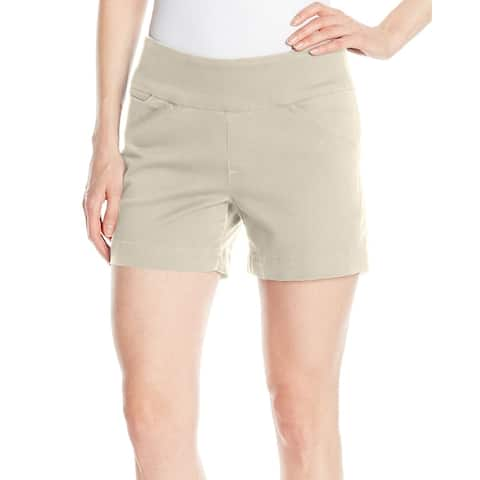 Jag Stone Beige Solid Women's Size 16 Pull-On Ainsley Bermuda Shorts