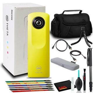 Link to Ricoh Theta m15 Spherical VR Digital Camera (Yellow) with Bag, Tripod and More Similar Items in Digital Cameras