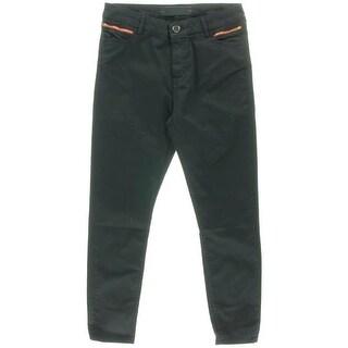 Etienne Marcel Womens Denim Mid-Rise Cropped Jeans