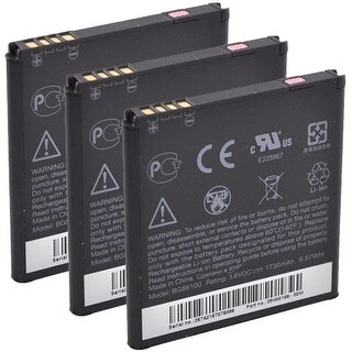New Replacement Battery For HTC 35H00164-00M / BG86100 / BLI 1210-1.5 Cell Phone ( 3 Pack )