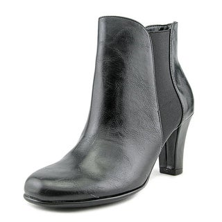 A2 By Aerosoles Strole Along Women Round Toe Synthetic Black Ankle Boot