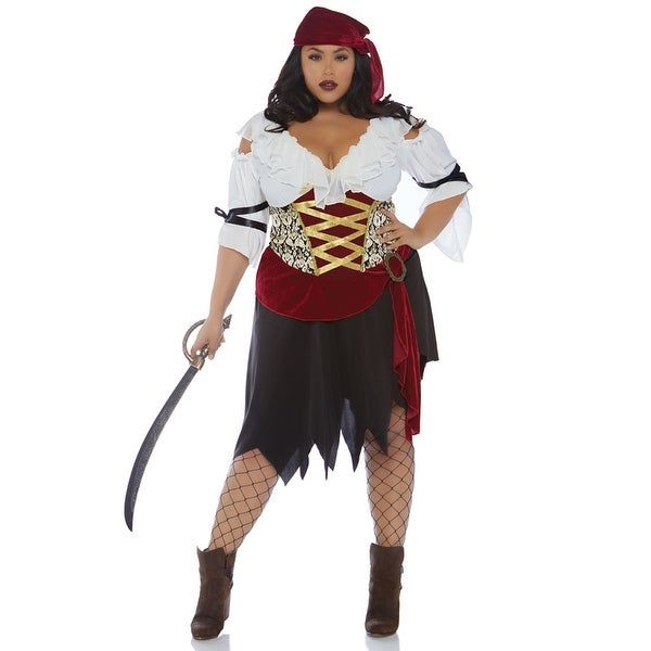 Womens Plus Size High Seas Wench Pirate Costume
