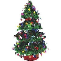 "F C Young 14"" 3D Tinsel Tree 3D-TREE Unit: EACH Contains 6 per case"