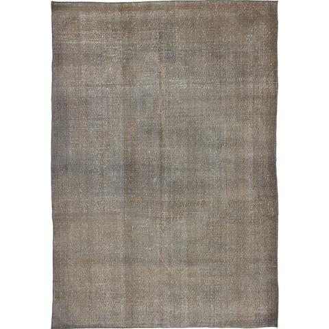 ECARPETGALLERY Hand-knotted Antalya Vintage Grey Wool Rug - 6'10 x 10'3