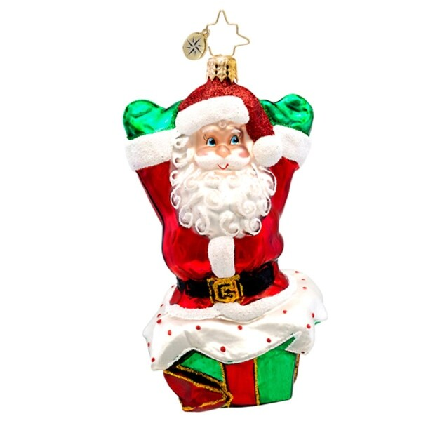 Christopher Radko Glass Pop Up Noel Santa Claus Christmas Ornament #1017256