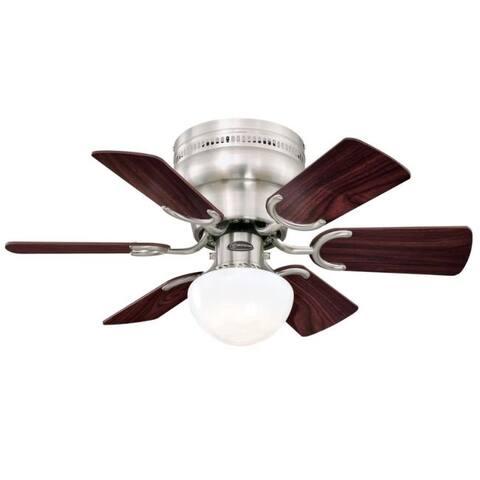Westinghouse Petite 30 in. Brushed Nickel Brown Indoor Ceiling Fan
