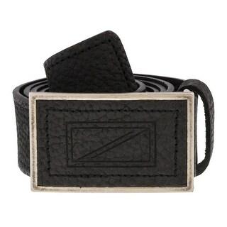 Renato Balestra W127 Nero Black Leather Mens Belt