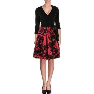 Diane Von Furstenberg Womens Jewel Party Dress Wool Blend Floral Print