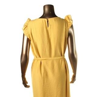 Anne Klein Womens Flutter Sleeves Textured Wear to Work Dress